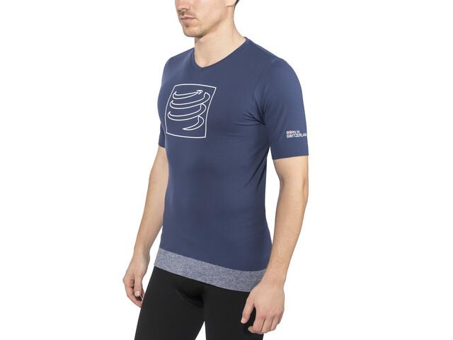 Compressport Training Hardloopshirt korte mouwen blauw